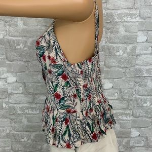 Patrons of Peace Tops - NWT Patrons of Peace Tank Floral Feather Detail S